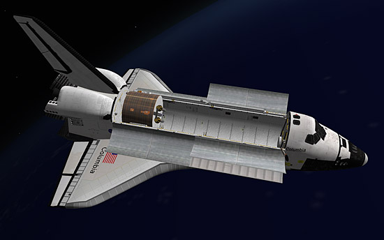 LEASAT in payload bay