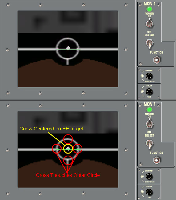 SSM EE cam view of Grapple target and visual cues
